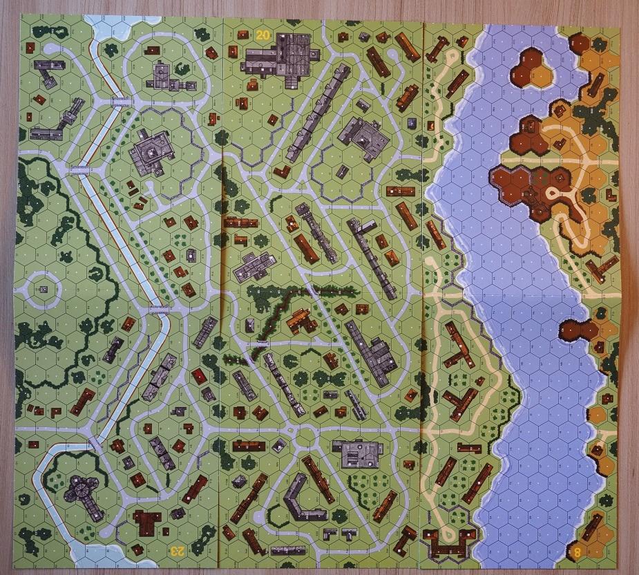 Mapy można też łączyć. Tutaj scenariusz zatytułowany The Czerniakow Bridgehead.