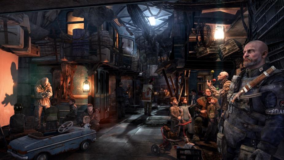Wizja moskiewskich tuneli z gry Metro: Last Light