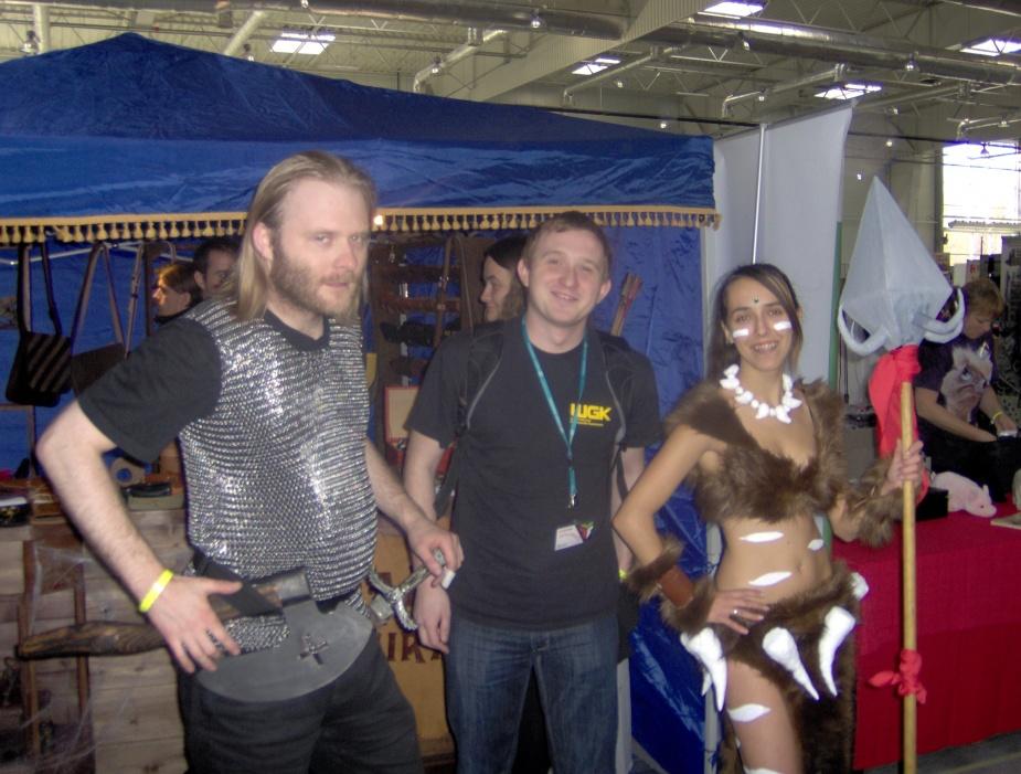 Cosplay. Od lewej - Wiking, Indie Game Developer, Nidale z LoLa