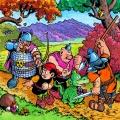 Cztery pory roku z satyrą i komiksem